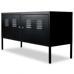 Industrial-Style TV Cabinet - Black