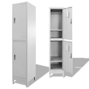 Locker Cabinet with 2 Compartments