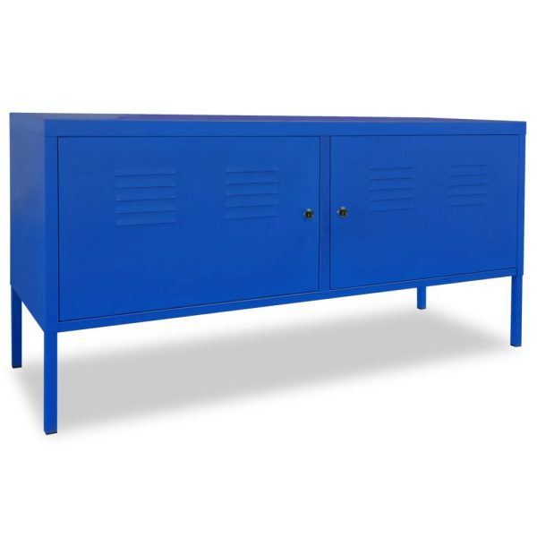 Industrial-Style TV Cabinet - Blue