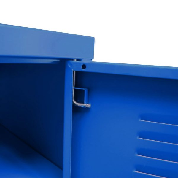 Industrial-Style TV Cabinet – Blue