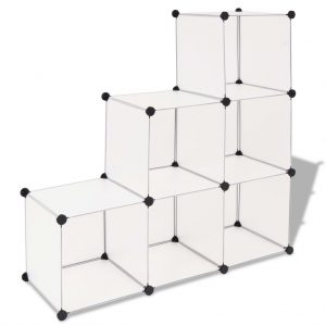 6 Compartment Storage Cube - White