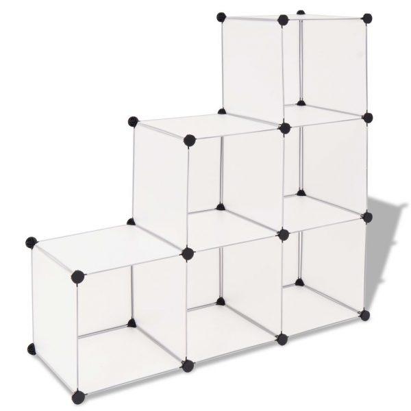6 Compartment Storage Cube - White