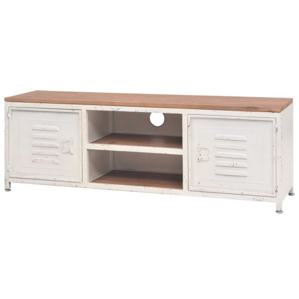 Industrial TV Cabinet – White