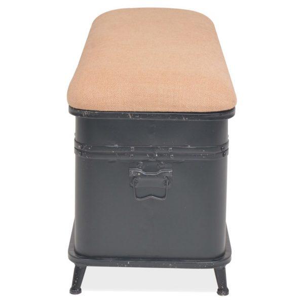 Steel Storage Bench with Cushion