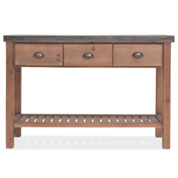 Solid Fir Wood Console Table