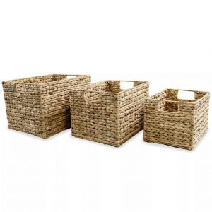 Hyacinth 3 Piece Storage Basket Set
