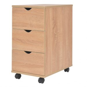3 Drawer Office Unit - Oak