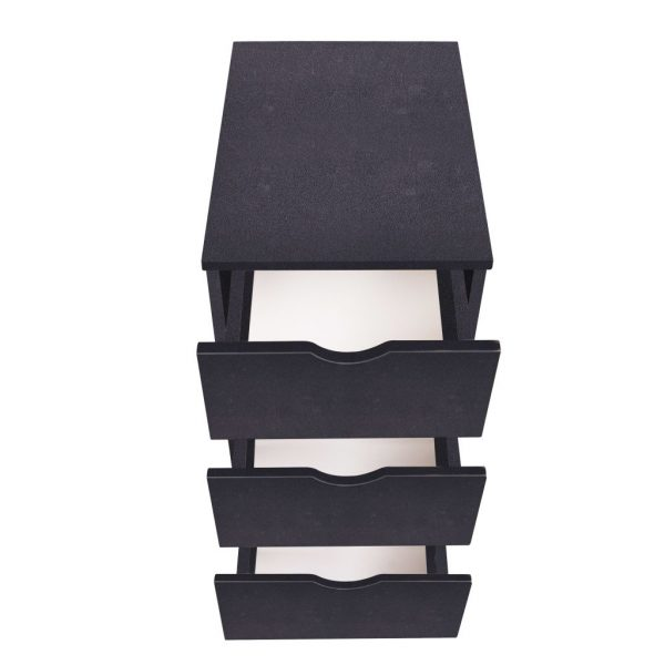 3 Drawer Office Unit – Black