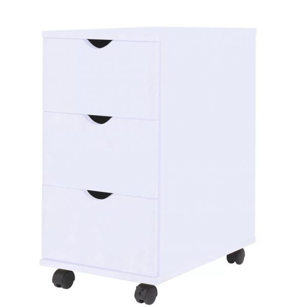 3 Drawer Office Unit - White