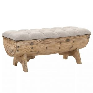 Barrel-Shaped Storage Bench