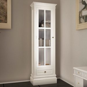 3 Shelf Wooden Bookcase Cabinet - White