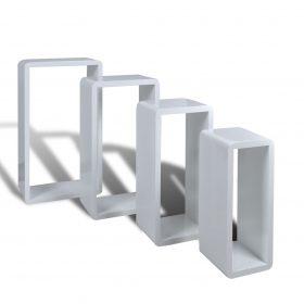 Cuboid shelf set of 4 White