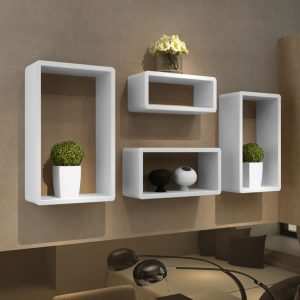 Cuboid Wall shelf set