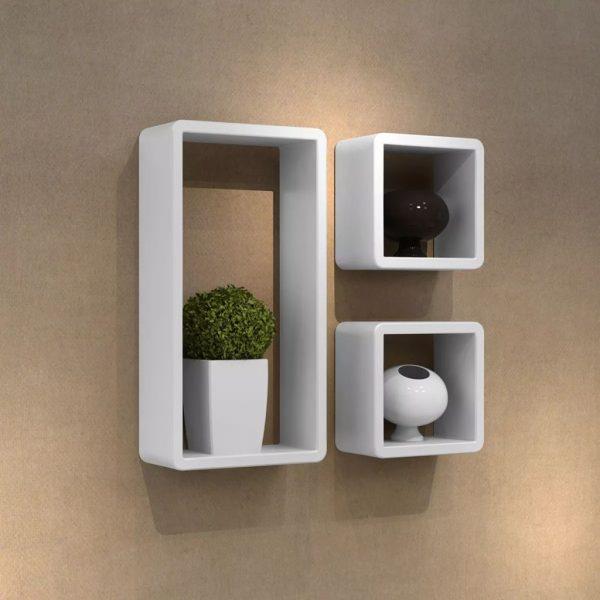 Cuboid Wall Shelf Set