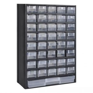 vidaXL 41-Drawer Plastic Storage Cabinet Tool Box