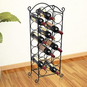 21 Bottle Metal Wine Rack
