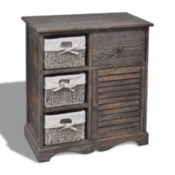 3 Drawer Wooden Cabinet - Brown