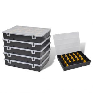 Plastic Storage Tool Box Set