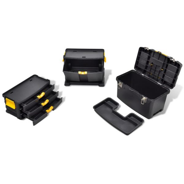 vidaXL Tool Case Chest Tool Trolley Portable