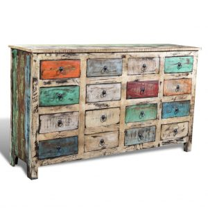 reclaimed solid wood cabinet