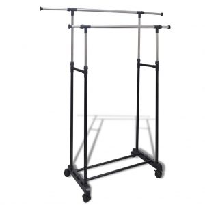 2 Rail Adjustable Clothes Rack