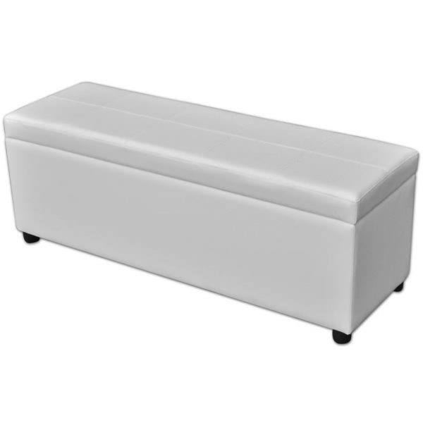 Long Wooden Storage Bench