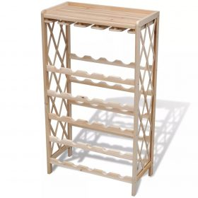 vidaXL Wine Rack for 25 Bottles Wood