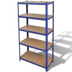 Storage Shelf Garage Organiser - Blue