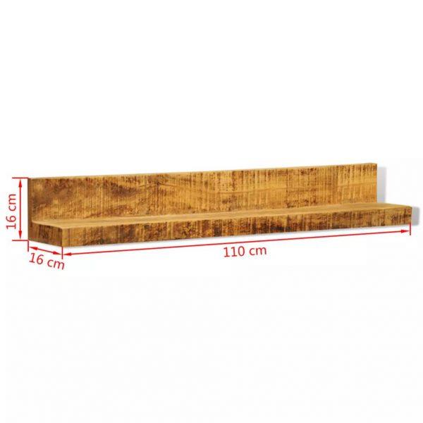 Solid Wood Wall Mounted Display Shelf 2 pcs