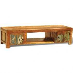 Reclaimed Wood TV Cabinet with 2 Doors Vintage Antique-style