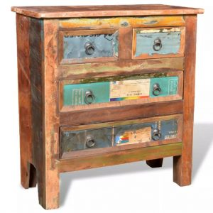 Reclaimed Cabinet Solid Wood with 4 Drawers