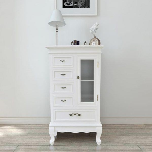 5 Drawer Cabinet - White