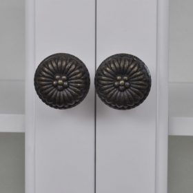 vidaXL Wooden Kitchen Wall Cabinet with Glass Door White