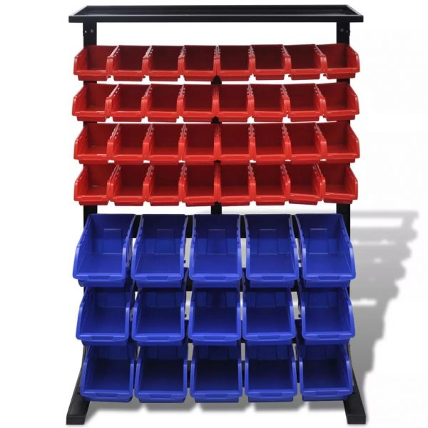 vidaXL Garage Tool Organiser Blue and Red