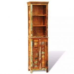Vintage-Style Reclaimed Solid Wood Bookshelf