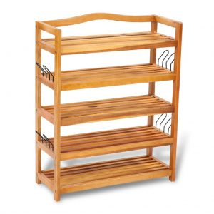 5-tier Wooden Shoe Rack
