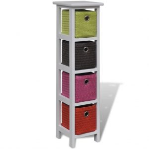 Storage Rack with Multi-colour Baskets