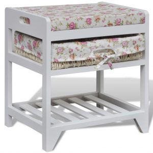 Wooden Storage bench with Shoe Rack