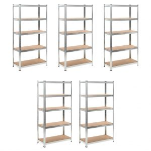 Heavy-duty Storage Rack - Set of 5