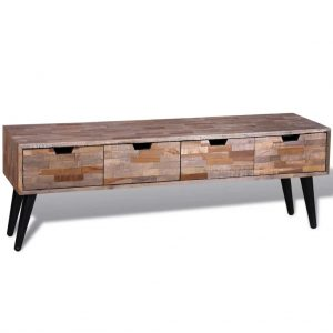 4 Drawer Reclaimed Teak TV Cabinet