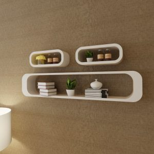 Wall Shelf Cubes Set - White