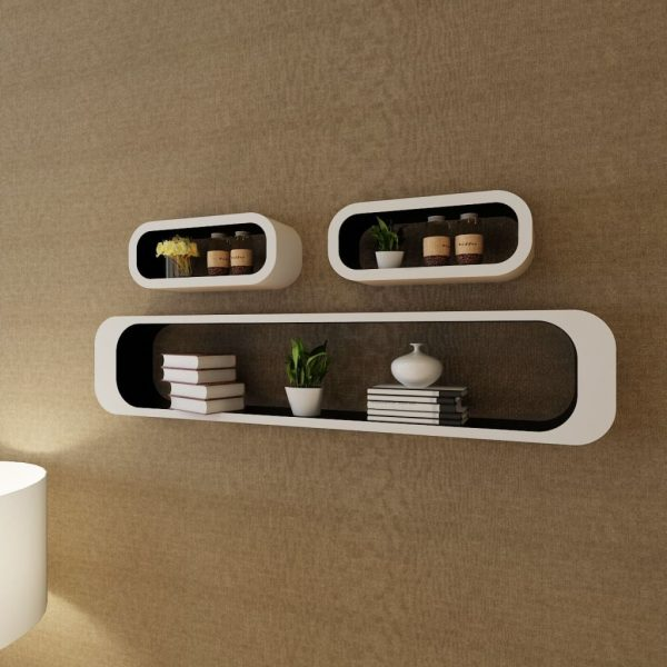 Wall Shelf Cubes Set - Black