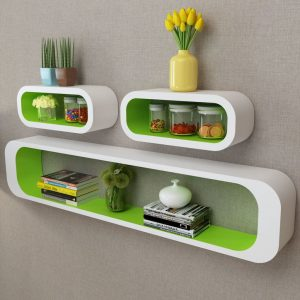Wall Shelf Cubes Set - Green