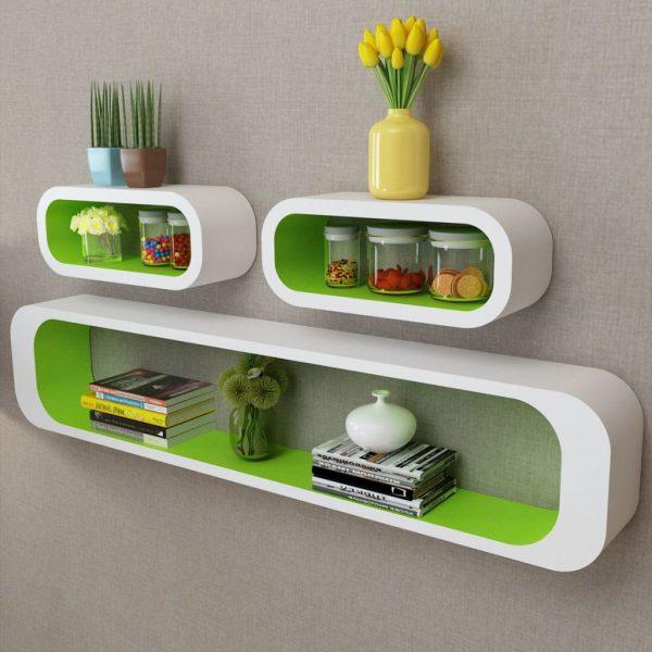 Wall Shelf Cubes Set - Green