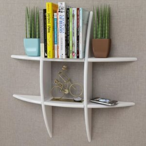 Floating Wall Storage Shelf - White
