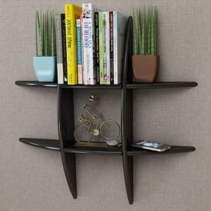 Floating Wall Storage Shelf - Black