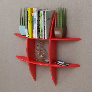 Floating Wall Storage Shelf - Red