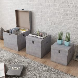 Storage Box Set - Concrete Grey