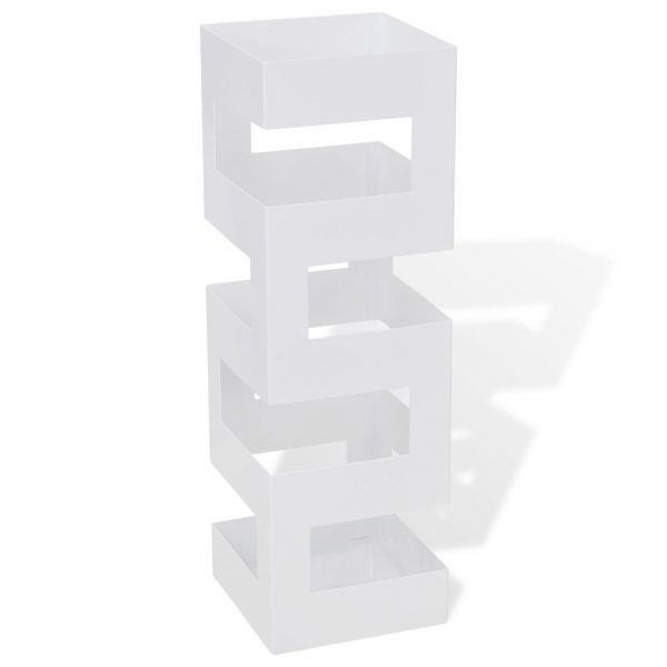 Contemporary Umbrella Stand - White