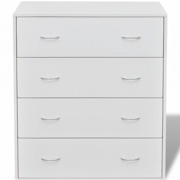 4 Drawer Sideboard Cabinet – White